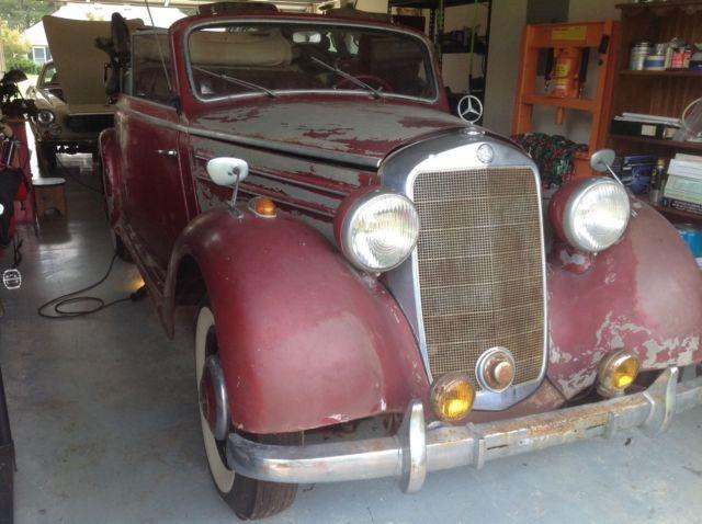 1950 mercedes 170s cabriolet b no reserve for sale for Mercedes benz parts by vin number