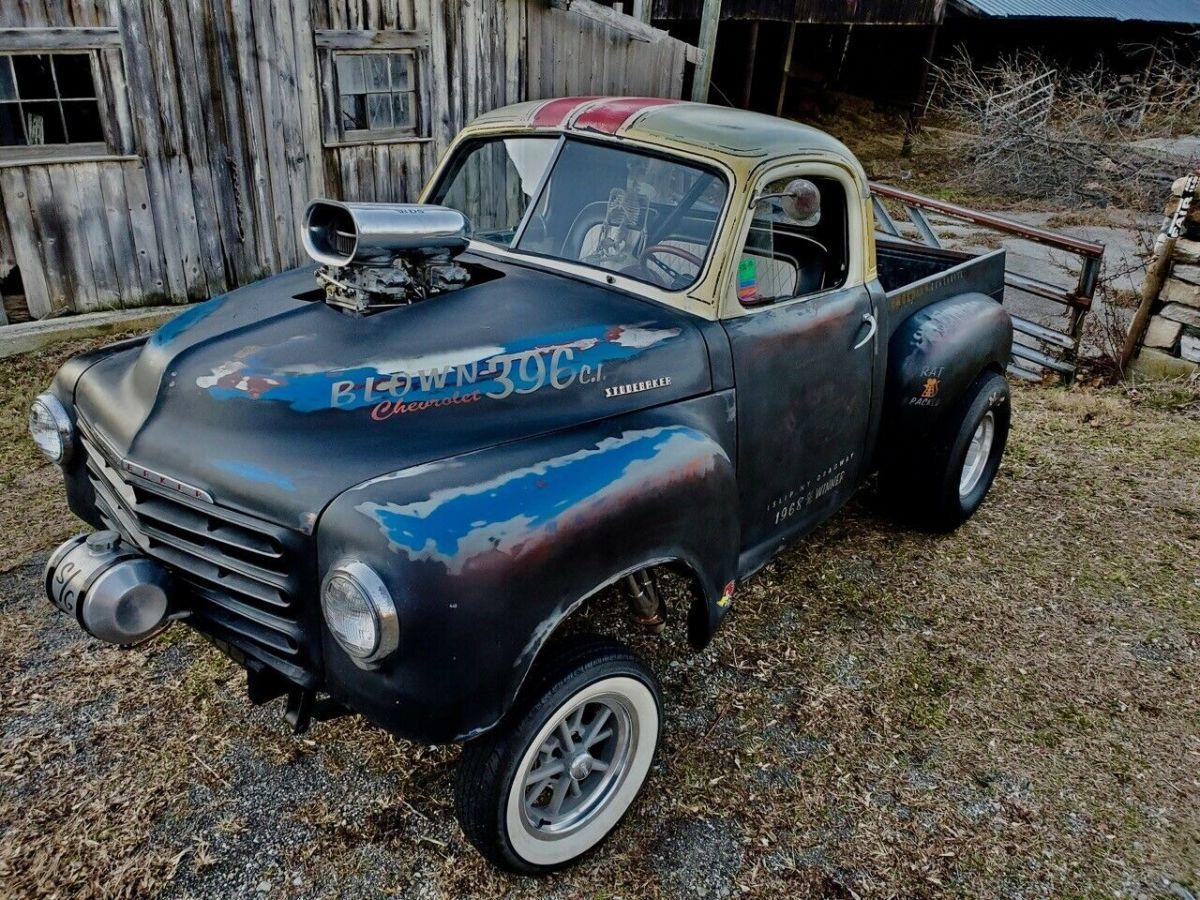 1950 Studebaker R54 GASSER pickup, bbc 408 w/BLOWER, SEE VIDEO!