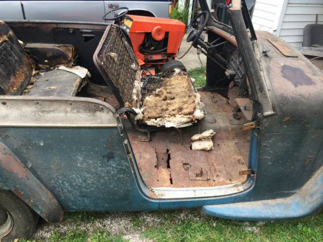 1950 Willys 2 Door Jeepster Clear Title Perfect Project Car Or