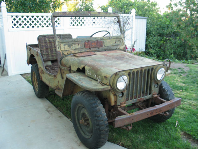 1951 51 willys jeep m38 military korean war army jeep for sale
