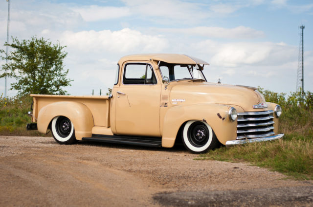 1951 chevrolet 3100 5 window bagged hot rod shop truck for 1951 chevy 5 window pickup for sale