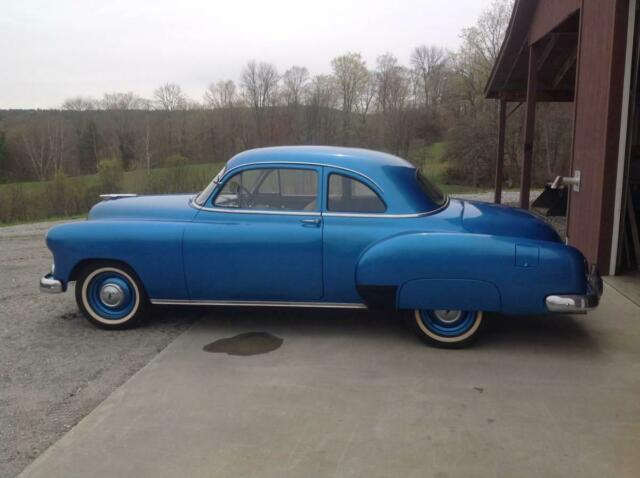 1951 Blue Chevrolet Coupe 2Dr 2 Door Dr Only 42k Original Miles Coupe with Tan interior