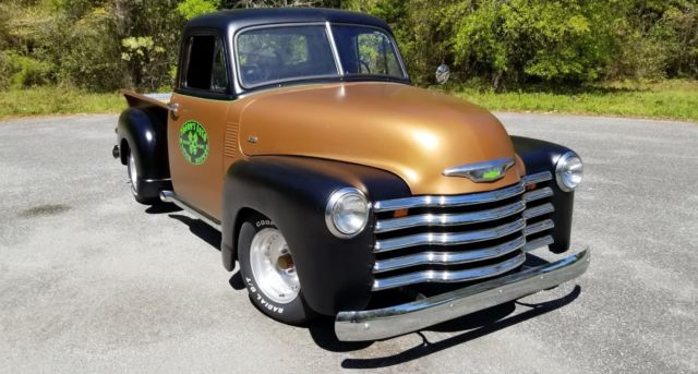 1951 Flat Metallic Brown and Flat Black Chevrolet Other Pickups Classic Hot Rod Custom Truck V8 3100 Standard Cab Pickup with Flat Metallic Brown and Flat Black interior