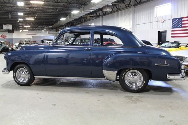 1951 Blue Chevrolet Styleline Deluxe Coupe with Blue interior