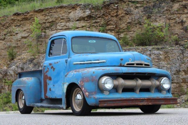 1951 ford f 1 rat rod pickup restomod 350ci auto pdb ps patina nice 52 Ford F1 Rat Rod 1951 ford f 1 rat rod pickup restomod 350ci auto pdb ps patina nice f100 f1