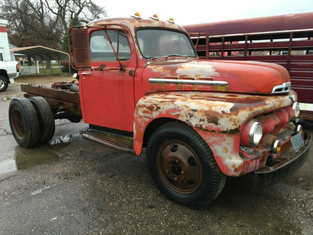 1951 red Ford Other Pickups Cab & Chassis with red interior