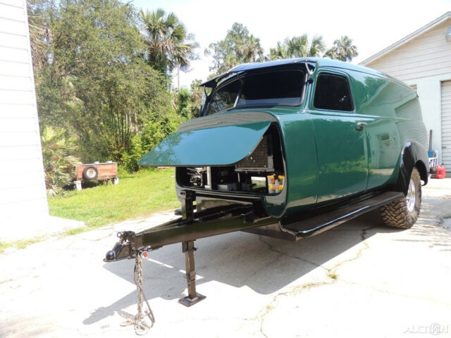1951 Black GMC 1/2 Ton Pickup Truck with Green interior