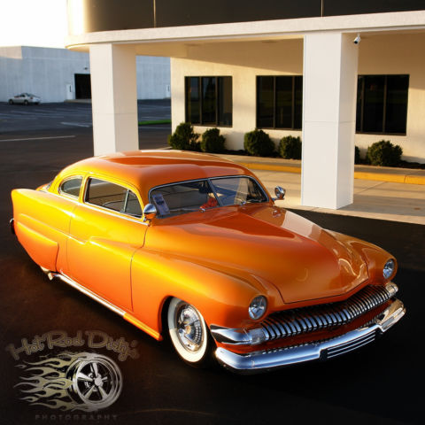 1951 Mercury Chopped Hot Rod Custom Chopped Hot Rod Custom Sunset Merc