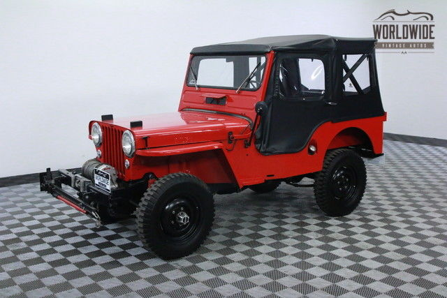 1951 Willys JEEP CJ3 RESTORED WINCH TOP 4X4