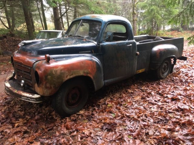 1951 Blue black Studebaker 2R11 Truck with Blue interior