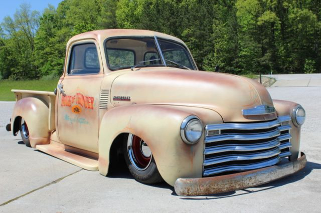 1952 chevrolet 3100 5 window rat rod bagged pickup for 1952 chevy pickup 5 window