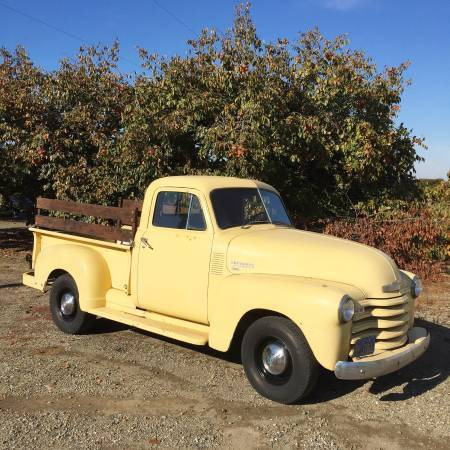1952 Chevrolet Other Pickups 3100,1/2 Ton, Short Bed, California Truck