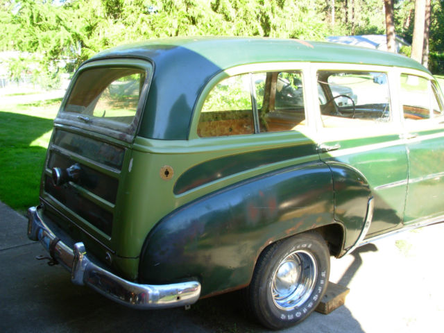 1952 Green Chevrolet Other Wagon with Root Beer Brown, and Beige. interior