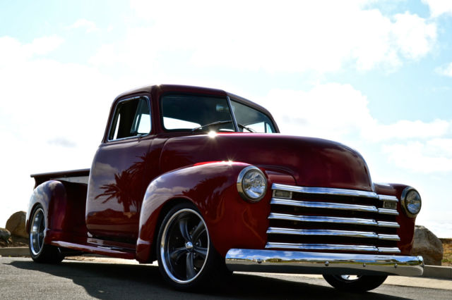 1952 chevy 3100 5 window truck restomod camaro clip 350 for 1952 chevy truck 5 window