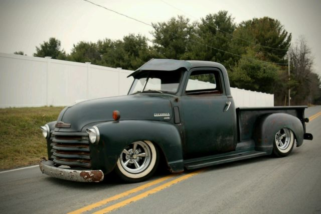 1952 Chevy 3100 Truck Rat Rod Hot Rod Patina Slammed