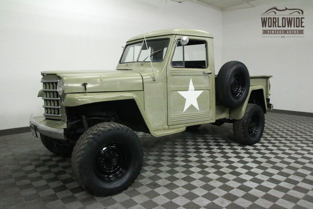 1952 JEEP PICKUP WILLYS V8! 4X4! for sale: photos, technical
