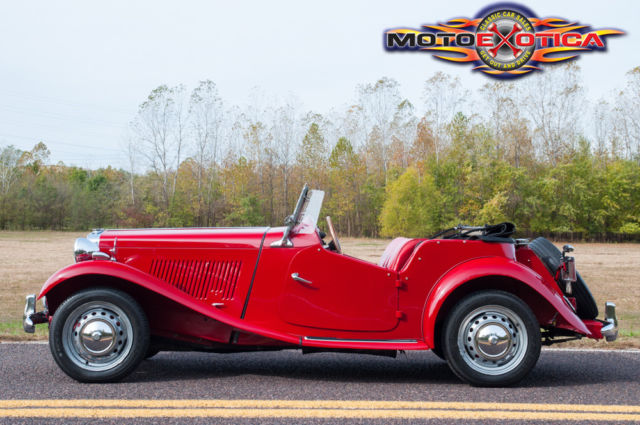 1952 MG Red MG Other TD Roadster Convertible with Red interior
