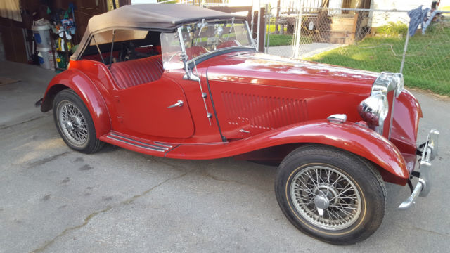 1952 MG T-Series leaher