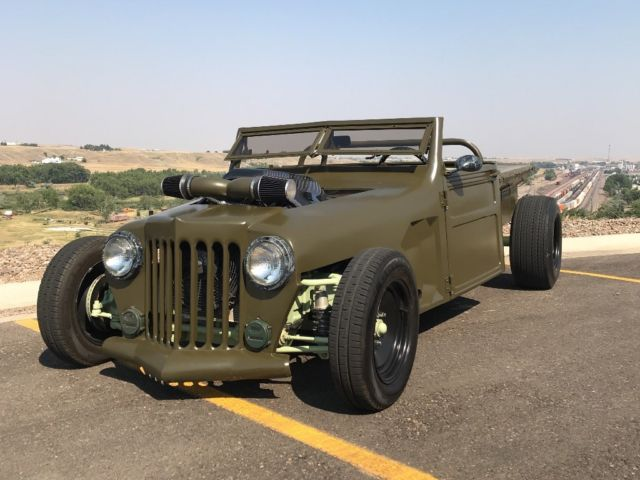 1952 willys jeep hot rod rat rod custom for sale: photos, technical