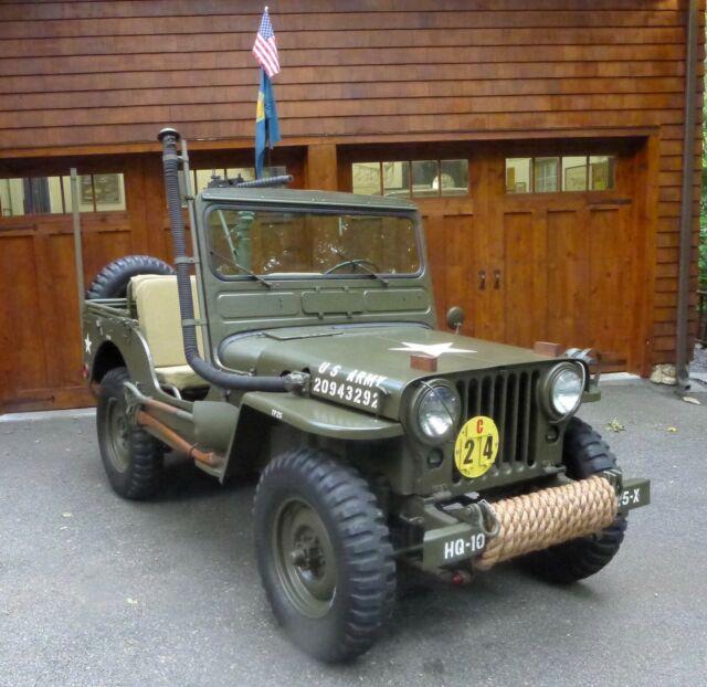 1952 willys m38 korean war jeep - fully restored w/ 30 caliber machine gun