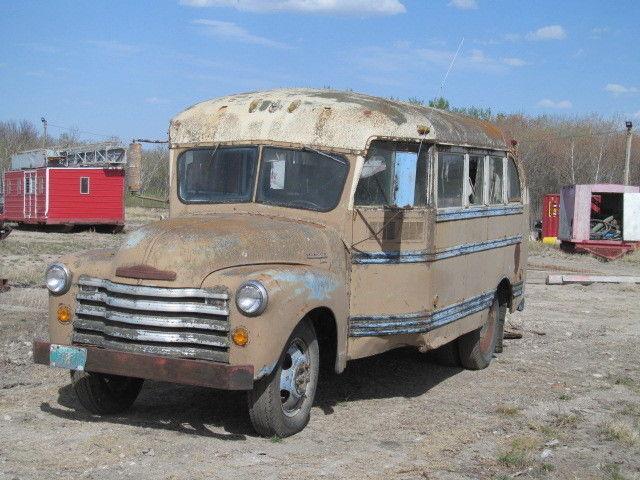 1953 CHEVROLET 14 PASSENGER SHORT BUS TRUCK     for sale