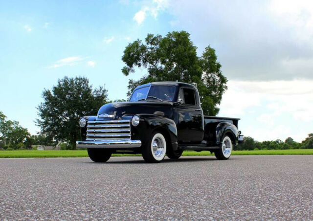 1953 Black Chevrolet 3100 with Red interior