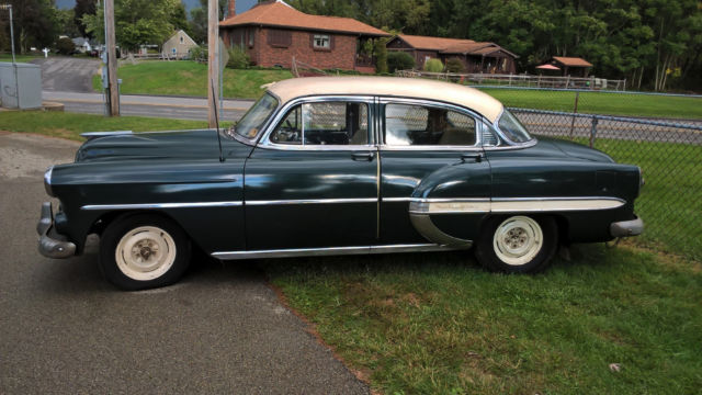 1953 chevrolet bel air color green 4 door sedan for sale for 1953 chevrolet belair 4 door