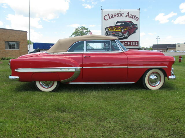 1953 Red Chevrolet Bel Air/150/210 Convertible with White interior