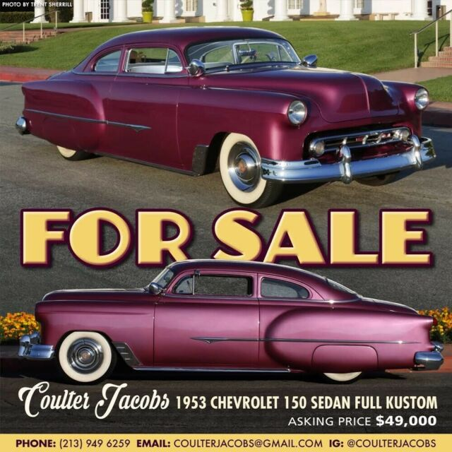 1953 Chevrolet Kustom Chop Top for sale: photos, technical