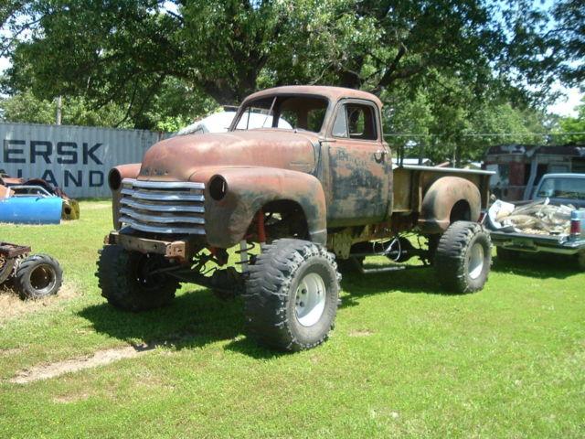 1953 chevrolet truck project rat rod 4x4 for sale