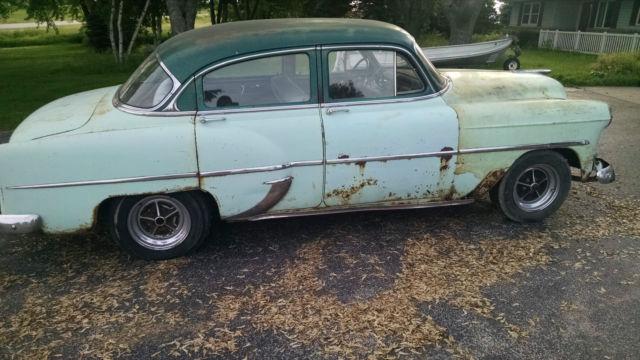 1953 chevy 4 door coupe sedan rat rod patina complete car for 1953 chevy 4 door