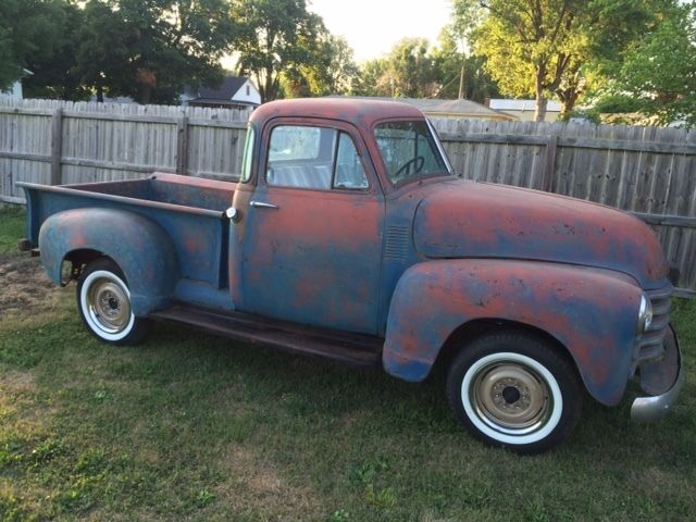 1953 chevy 5 window 3100 rat rod great patina solid for 1953 5 window
