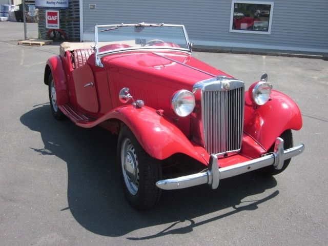 1953 Mg Td Roadster  Red  Classic Vintage British Sports