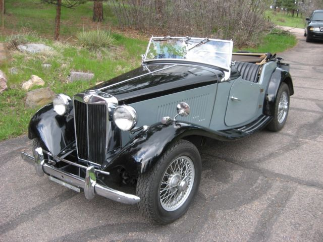 1953 MG T-Series Black Leather