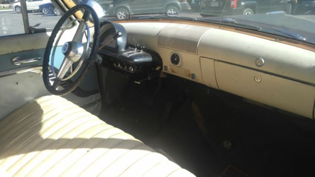 1953 Blue Mercury Monterey station wagon with Tan interior
