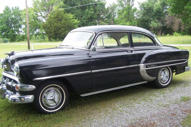 1954 Black 2 Door Chevy 210 Good Condition Runs Good 235 Engine W 3 Speed For Sale Photos