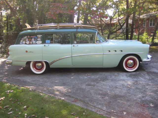 1954 buick century station wagon nailhead v 8 with 3x2 39 s for sale photos technical. Black Bedroom Furniture Sets. Home Design Ideas