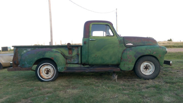 Edmonton Area Chevrolet Pickup Trucks For Sale Buy Used: 1954 CHEVROLET 3100 1/2 TON SHORT BED PICKUP SHOP PATINA