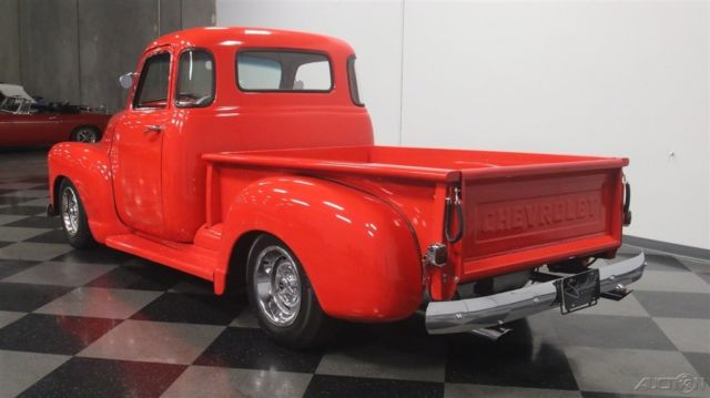 1954 Red Chevrolet 3100 with Brown interior