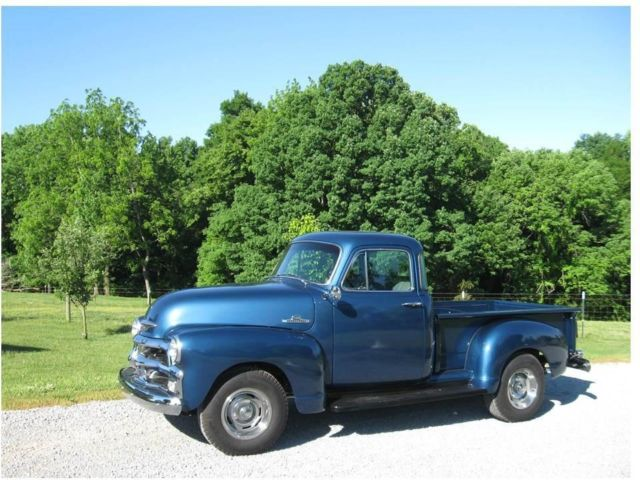 1954 Blue Chevrolet Other Pickups 3100 Truck with Blue and Gray interior