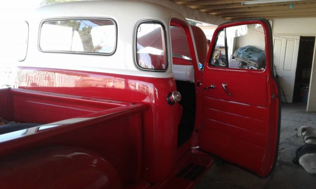 1954 Red - White Chevrolet Other Pickups Pickup Truck with Red interior