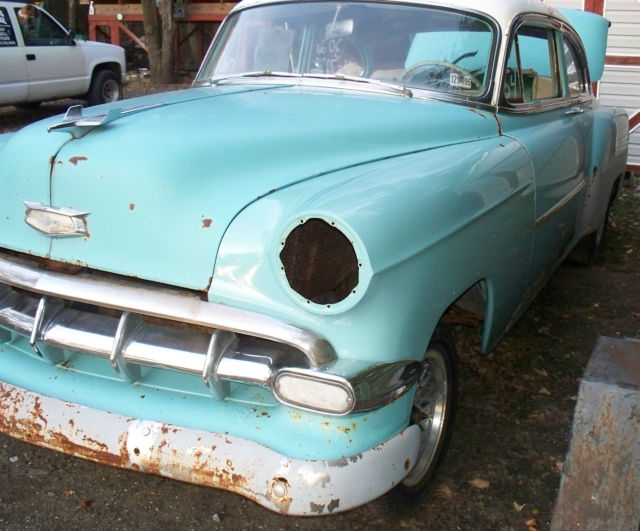 1954 chevrolet chevy bel air 2 door sedan parts restore On cars with no motor for sale