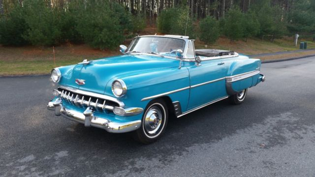 Bel Air Auto Auction >> 1954 CHEVY BELAIR V8 CONVERTIBLE RARE for sale: photos ...