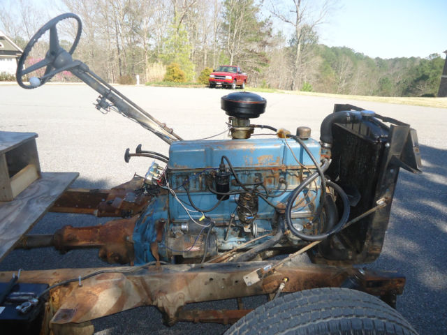 1954 Chevy Chevrolet 1 2 Ton 3100 Pickup Chassis With 235 Ci Running Engine For Sale Photos