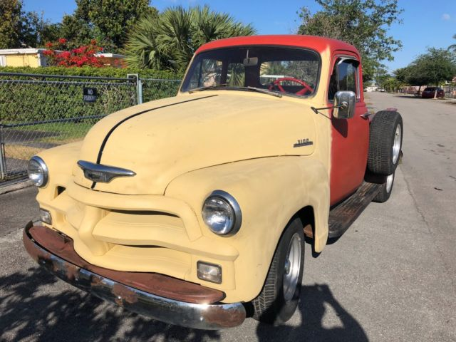 1954 Red Chevrolet Other Pickups Pickup Truck with Black interior