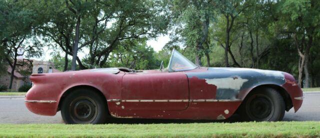 1954 Chevy Corvette Project Car Restrod Restomod Hot Rod Mod Real Red Car For Sale Photos Technical Specifications Description