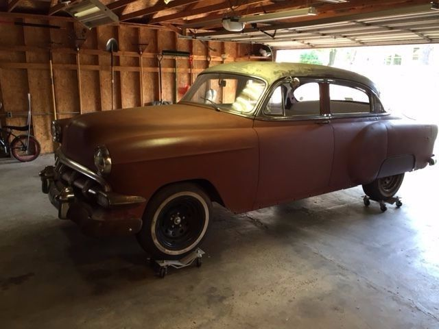 1954 chevy four door bel air for sale photos technical for 1954 chevy belair 2 door for sale