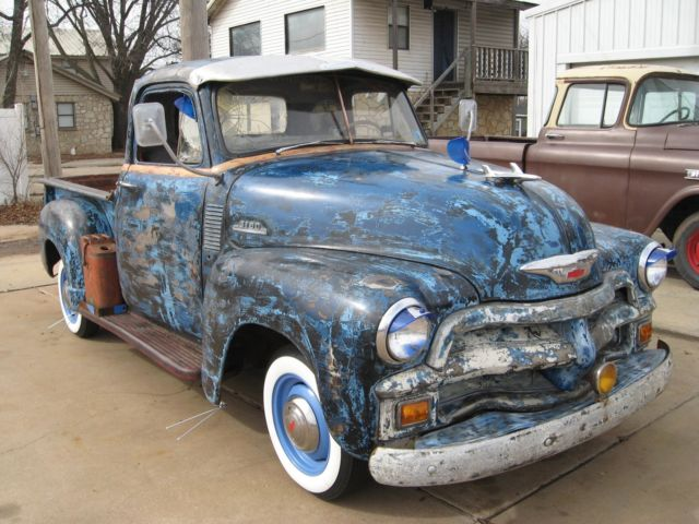 1954 chevy pickup short bed stepside PATINA PATINA for sale  photos ... 72c18454c5f