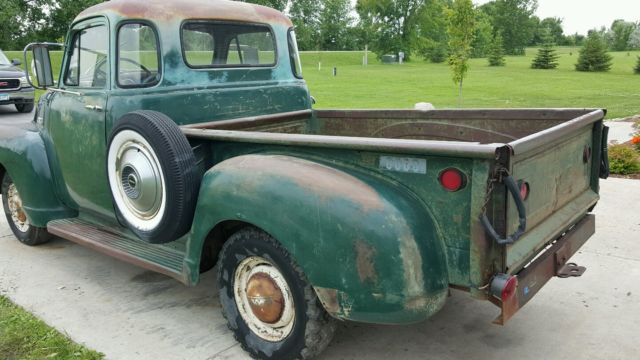 1954 gmc 5 window deluxe pickup truck barn find patina original driver rat rod for sale photos. Black Bedroom Furniture Sets. Home Design Ideas