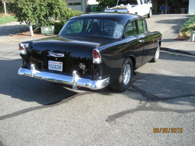 1955 55 chevy 150 black beauty gasser ready to race american graffiti car for sale photos. Black Bedroom Furniture Sets. Home Design Ideas